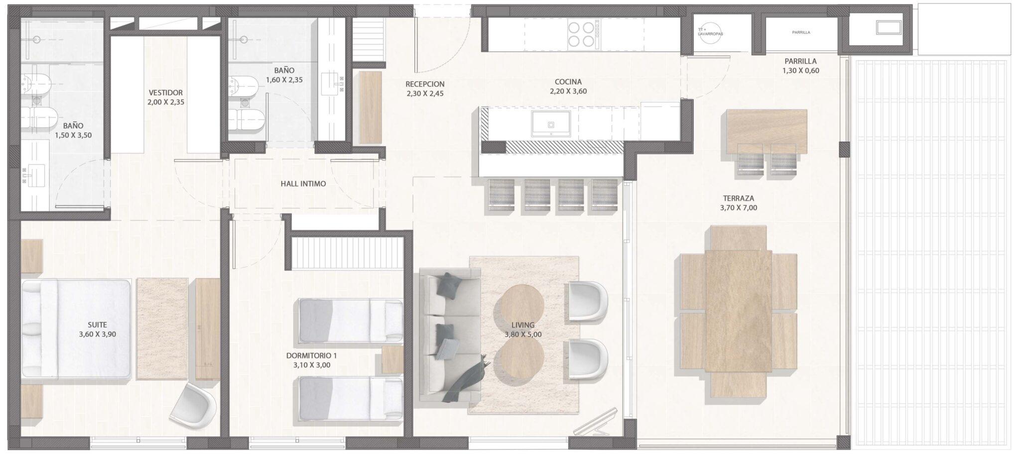 1 er y 2do piso, 2 dorm.